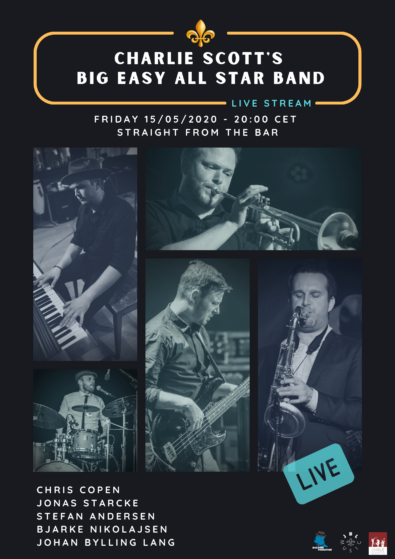 Charlie Scott's Big Easy All Star Band - Live Stream - POSTER